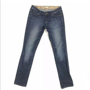 Paige Premium Denim Dark Washed Skinny Jeans
